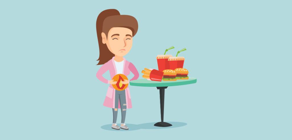Halsbrand kan skyldes mad